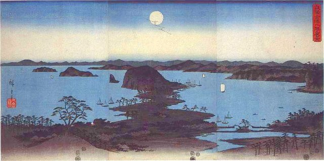 Hiroshige, Night View of Eight Excellent Sceneries