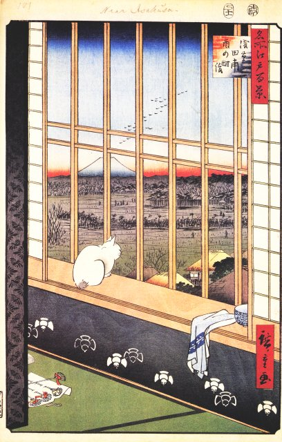 Hiroshige, Asakusa Rice Fields During the Festival of the Cock