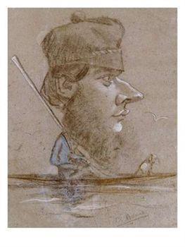 Monet Caricature sketch