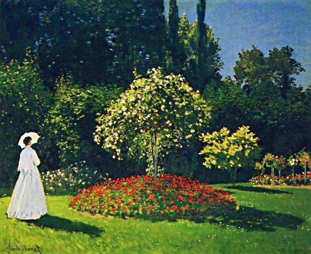 Jeanne-Marguerite Lecadre au jardin