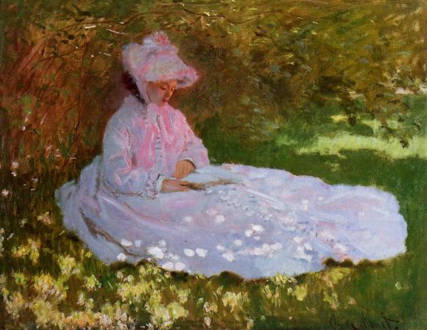Monet Reader Springtime