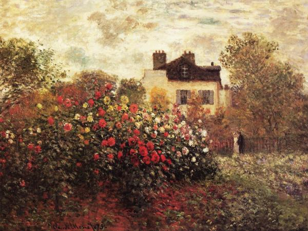 Monet s Garden at Argenteuil or The Dahlias