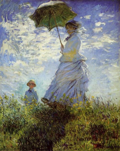 Monet The Walk or Woman with a Parasol