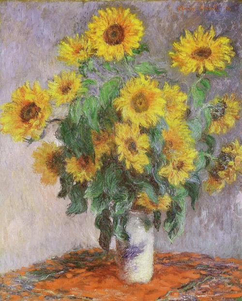 Bouquet de soleils, Les Tournesols de Monet