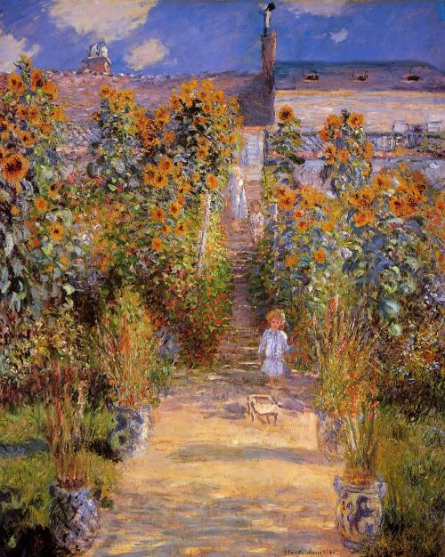 Claude monet le jardin de monet vtheuil reproduction affiche - Livre le jardin de monet ...