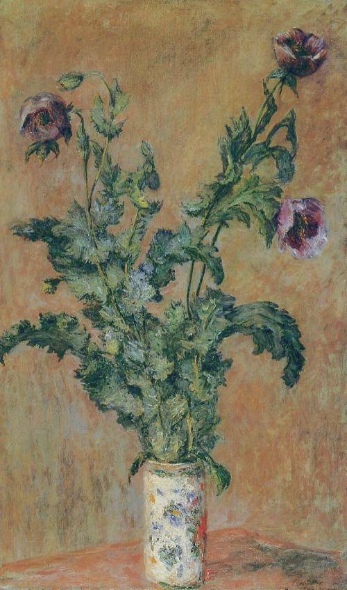 Monet Vase of Poppies