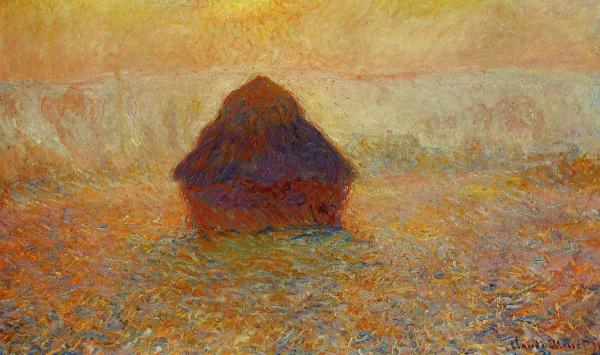 Monet Haystack Sun in the Mist