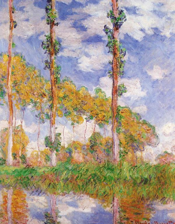 The three Trees in Summer by Claude Monet
