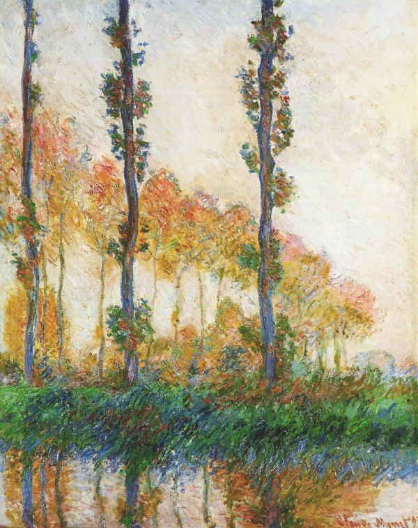 Three Trees in Autumn by Monet