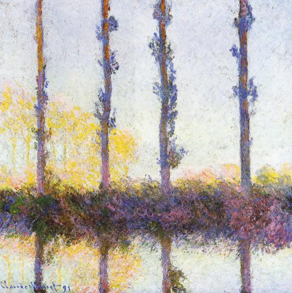 Four Trees by Claude Monet