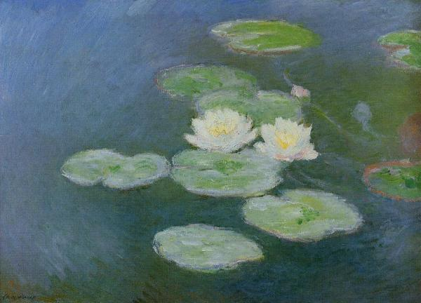 Monet Water Lilies Evening Effect