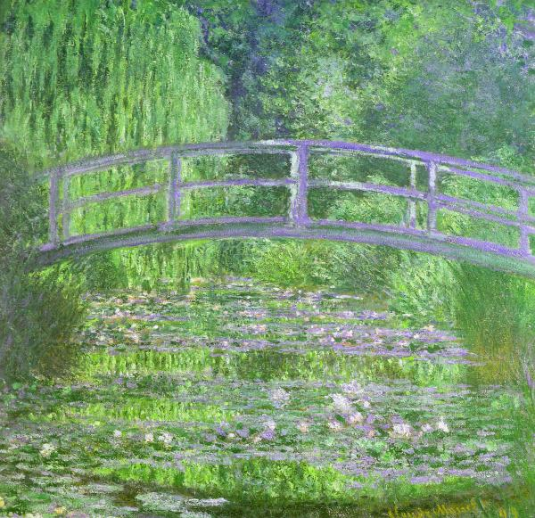 Water Lily Pond Symphony in Green