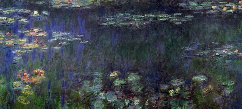Monet Green Reflexions