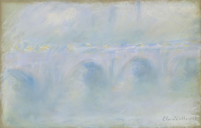 P095 Pont de Waterloo, Claude Monet 1901, pastel sur papier, collection particulière