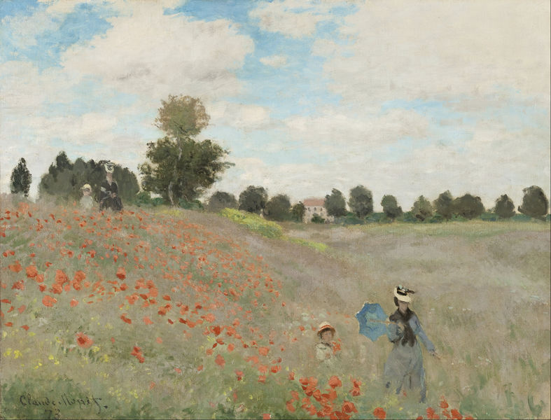 Poppies at Argenteuil, Claude Monet, D'Orsay Museum, Paris
