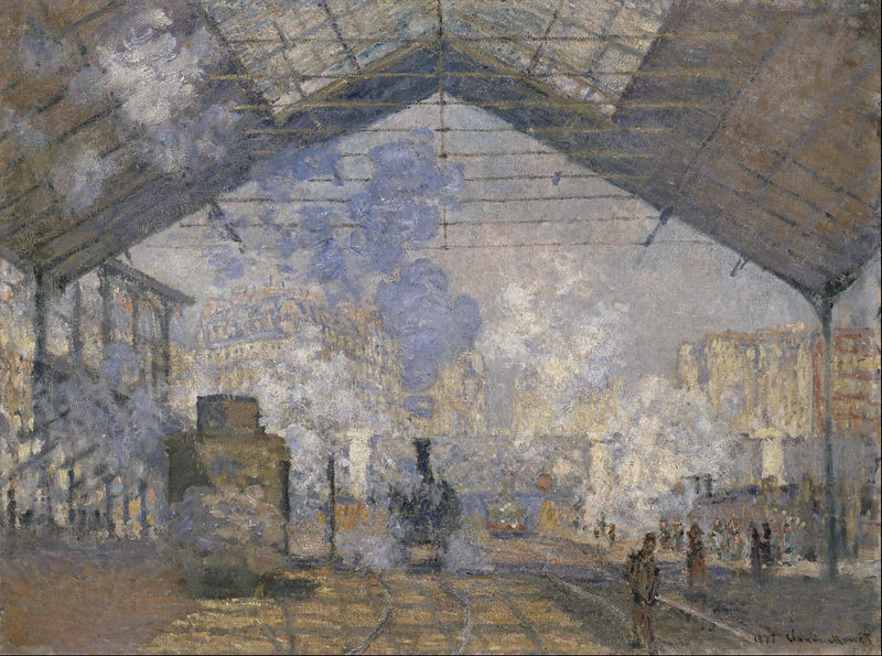 St Lazare train station in Paris by Claude Monet
