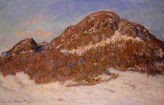 Claude Monet, Le Mont Kolsaas, effet de soleil, 1895, 65x100cm, collection particulière